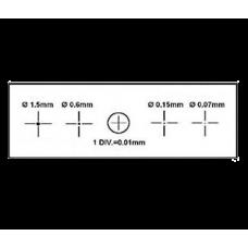Калібрувальна лінійка SIGETA X & Y 1мм / 100 Div.x0.01мм