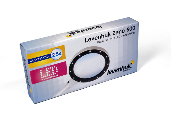 Лупа Levenhuk Zeno 600, 2,5x/5x, 90/21 мм, 12 LED, металл