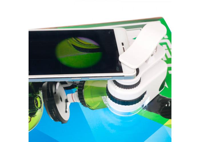 Кишеньковий мікроскоп Sigeta MicroClip 45x для смартфона