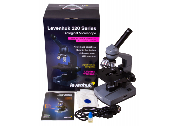 Мікроскоп Levenhuk 320 BASE, монокулярний