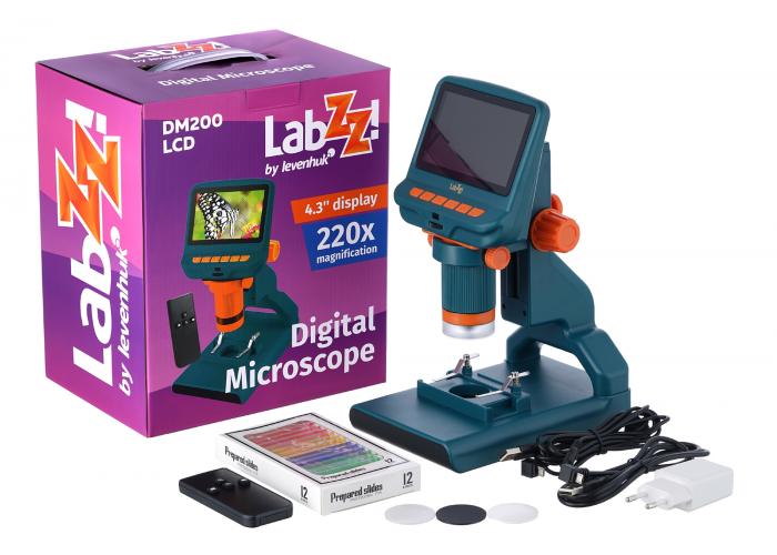Мікроскоп цифровий Levenhuk LabZZ DM200 LCD