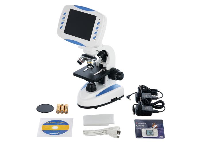 Микроскоп цифровой Levenhuk D80L LCD, монокулярный