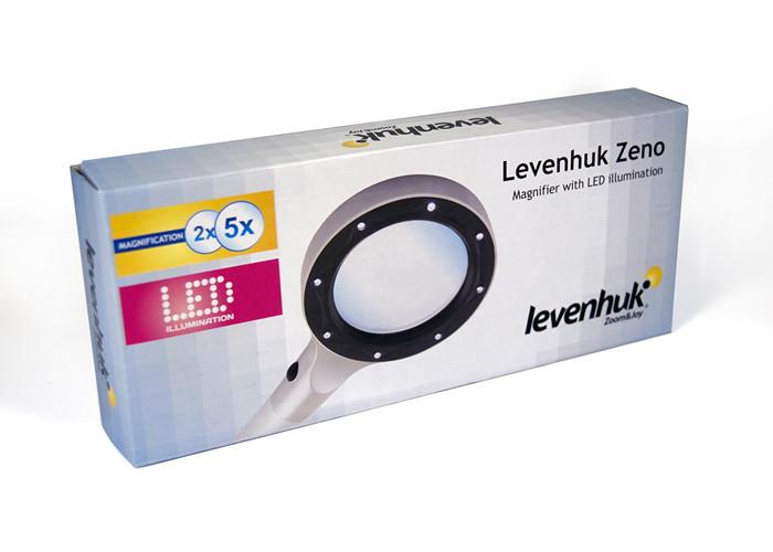 Лупа Levenhuk Zeno 400, 2/4x, 88/21 мм, 2 LED, металл
